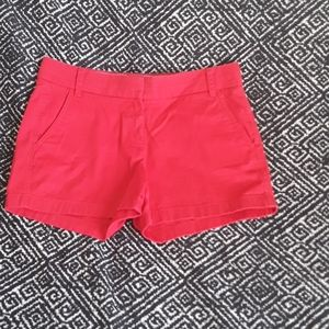 BRIGHT RED J CREW CHINO SHORTS WOMEN SIZE:4